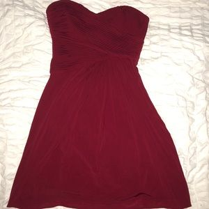Red short homecoming dress
